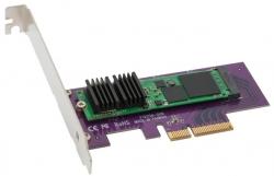 Твердотельный накопитель Sonnet Tempo выполнен в виде карты расширения PCIe, на которой установлен SSD типоразмера M.2