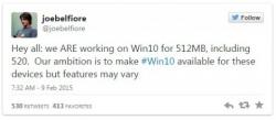 Microsoft подтвердила, что Windows 10 будет доступна на бюджетных смартфонах