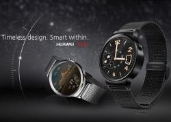 Круглый дисплей AMOLED умных часов Huawei Watch на платформе Android Wear защищен сапфировым кристаллом