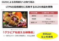 Sharp анонсировала дисплей диагональю 5,5 дюйма и разрешением 3840 х 2160 точек