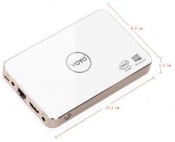 Мини-ПК Voyo V2 имеет расширенный объем флэш-памяти и встроенный аккумулятор