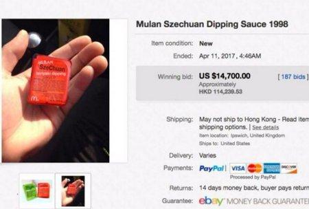 Соус из «Макдоналдс» продали за 15 тысяч долларов