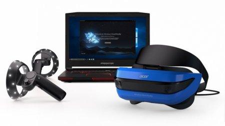 Microsoft показала шлем смешанной реальности и контроллеры для него