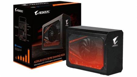 Gigabyte представила док-станцию Aorus GTX 1070 Gaming Box