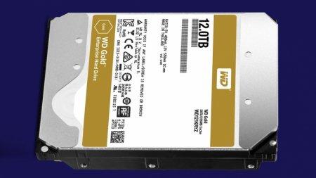 Western Digital начала продажи жёстких дисков WD Gold объёмом 12 ТБ