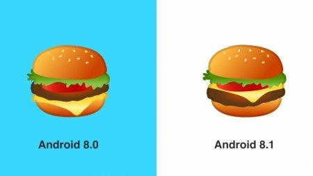 Google исправила эмодзи с бургерами и пивом