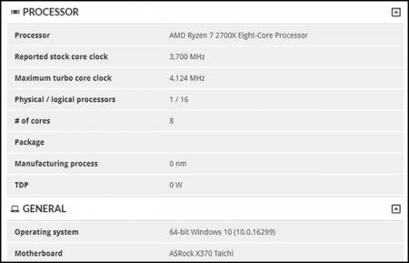 Замечен процессор AMD Ryzen 7 2700X: промежуточное поколение Zen на подходе