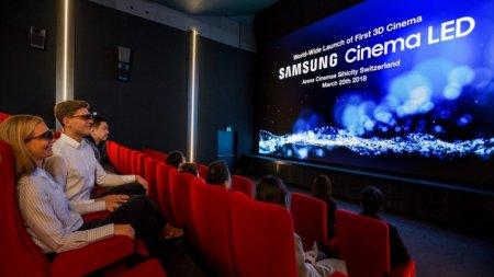 Samsung показала светодиодный экран для кинотеатров с поддержкой 3D