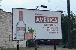 Уличная реклама русской водки со шпионским подтекстом воодушевила американцев