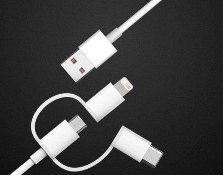Xiaomi выпустила универсальный кабель для всех смартфонов