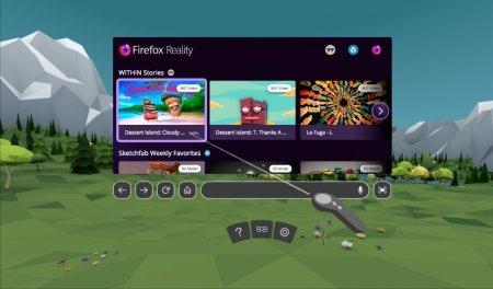 Firefox представила браузер для виртуальной реальности