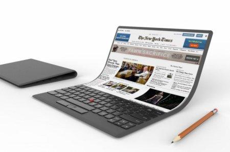 Samsung разрабатывает ноутбук с гибким экраном