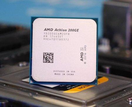 Бюджетный «гибрид» Athlon 200GE удалось разогнать до 3,9 ГГц