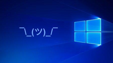 В Windows 10 появились каомодзи
