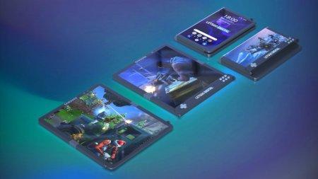 Samsung запатентовала складной игровой смартфон с гибким экраном
