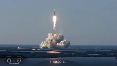 Второй пошёл: SpaceX успешно запустила тяжёлую ракету Falcon Heavy