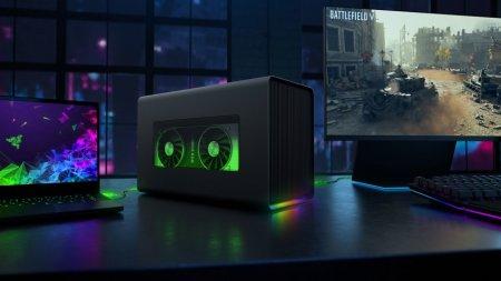 Razer Core X Chroma — корпус для видеокарты с подсветкой и мощным БП