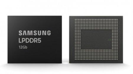 Samsung начала производить микросхемы памяти LPDDR5 на 12 Гбит для смартфонов