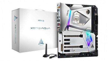 Материнская плата ASRock X570 AQUA оснащена водоблоком