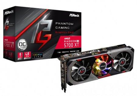 ASRock представила видеокарты Radeon RX 5700 Phantom Gaming