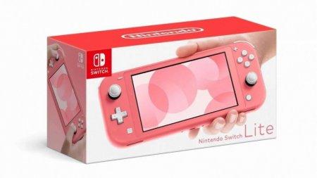 Коралловая Nintendo Switch Lite выйдет в Европе 24 апреля
