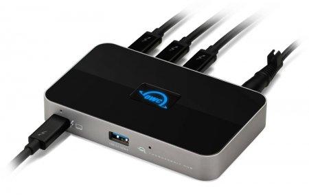 Док-станция OWC Thunderbolt Hub рассчитана на компьютеры с поддержкой Thunderbolt 4