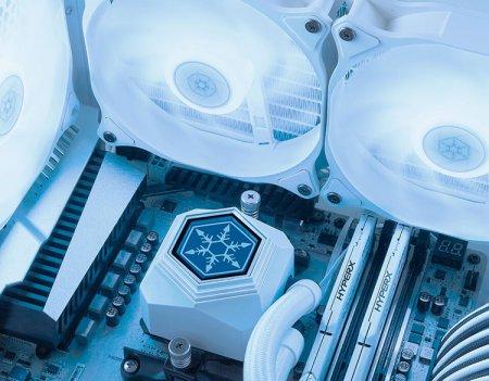 SilverStone представила СЖО «всё в одном» PermaFrost в белоснежном исполнении с подсветкой