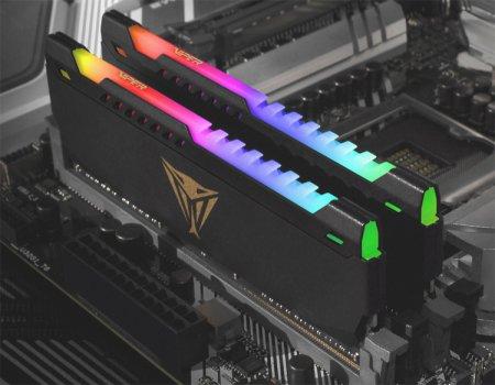 Модули памяти Patriot Viper Steel RGB наделены адресуемой подсветкой