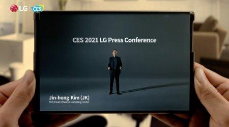 LG показала раздвижной смартфон Rollable со скручиваемым дисплеем