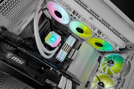 Corsair выпустила системы жидкостного охлаждения iCUE Elite Capellix в белом цвете