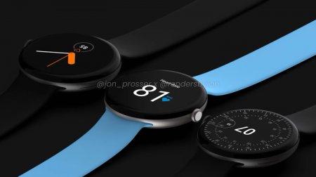 Смарт-часы Google Pixel Watch красуются на рендерах: анонс ожидается осенью