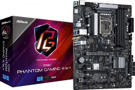 Плата ASRock Z590 Phantom Gaming 4/ac+ снабжена тремя разъёмами М.2 для SSD