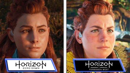 Разница двух поколений: Графику Horizon: Forbidden West для PlayStation 5 сравнили с Zero Dawn
