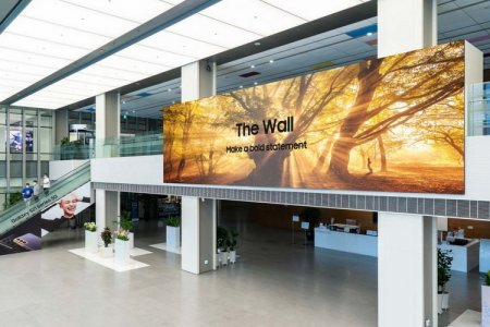 Samsung выпустила 1000-дюймовый модульный экран The Wall с разрешением 8K и частотой 120 Гц