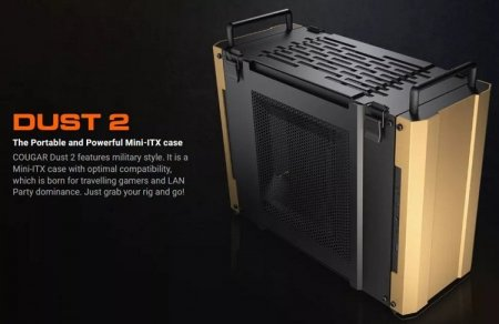 Cougar представила корпус Mini ITX Dust 2 для игровых ПК